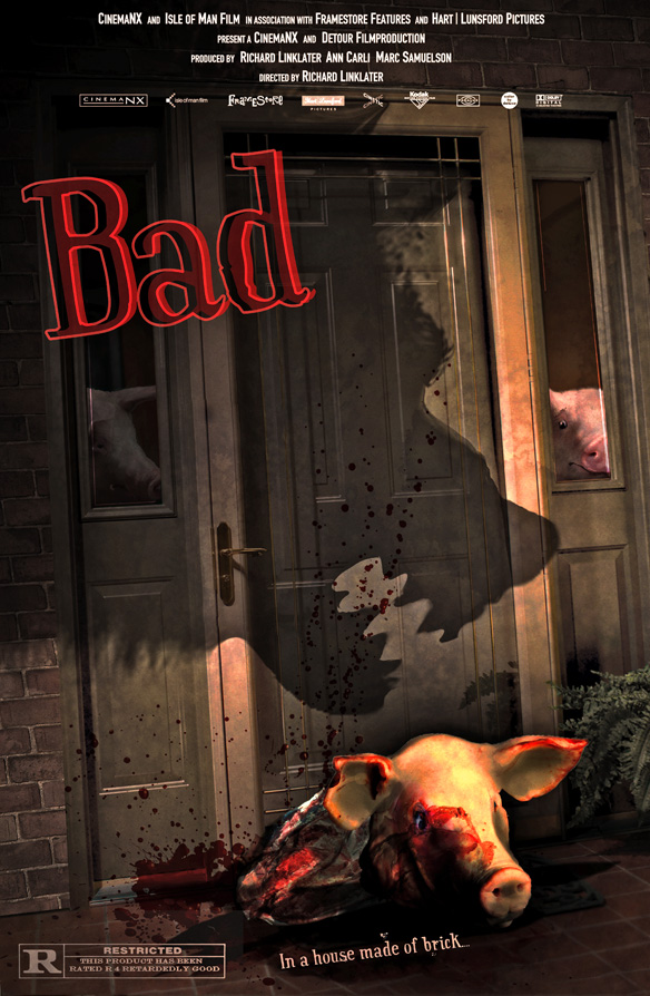 BAD; Horror Movie Poster